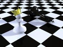 mot schackschackbrädekonung pantsätta Arkivfoton