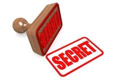 Mot secret sur le timbre en bois Photographie stock libre de droits