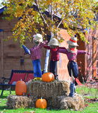 mot slagträn spökade fulla halloween plats för husmoonpumpa fotografering för bildbyråer
