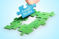 Mot social de media Images stock