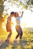mot sunen för barnspelrum Fotografering för Bildbyråer