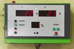Mot test equipment Royalty Free Stock Images