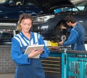 MOT Test and mechanics Stock Images
