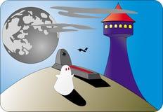 mot torn för spökemoontombs Royaltyfri Fotografi