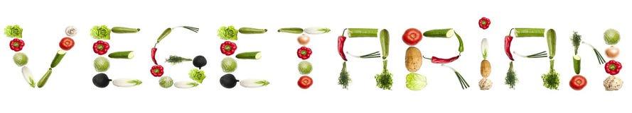 Mot végétarien fait de légumes Photographie stock