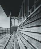 mot victorianen welsh för pir för bakgrundclevedonkostnad royaltyfria bilder