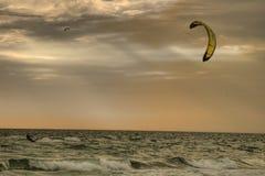 mot wind Royaltyfri Foto