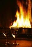 mot wine för spisexponeringsglas två Royaltyfria Bilder