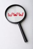 Mot WWW - recherche du concept d'Internet images libres de droits