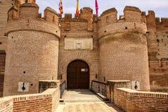 mota的城堡在麦地那del campo,巴里阿多里德,西班牙 免版税库存照片