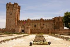 mota的城堡在麦地那del campo,巴里阿多里德,西班牙 库存照片