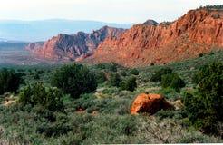 Mota de la piedra arenisca en Utah meridional imagenes de archivo