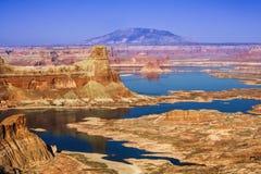 Mota del Gunsight en el área Utah los E.E.U.U. de Glen Canyon NationalRecreation Imagen de archivo libre de regalías