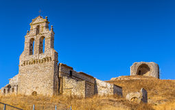 Mota del Marques Church and Castle Royalty Free Stock Photography