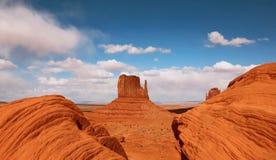 Mota hermosa en el valle Arizona del monumento Imagen de archivo