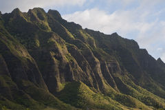 motains Oahu dell'Hawai Immagine Stock Libera da Diritti