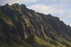 Motains on Oahu, Hawaii. Mountain ridge on northeast side of Oahu, Hawaii Royalty Free Stock Image