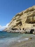Motala beach on the island of Crete Royalty Free Stock Image