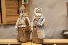 Motanki-Puppen-Gewebewächter für die Familie, die alte Tradition O Lizenzfreies Stockfoto