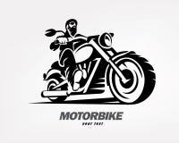Motard, silhouette grunge de vecteur de moto Photos libres de droits