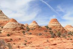 Motas del coyote: Conos de la piedra arenisca Imágenes de archivo libres de regalías