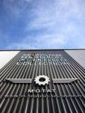 Motat-Luftfahrt-Hangar stockfotografie