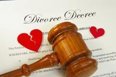 młoteczka rozwodowy rozłam Obrazy Stock