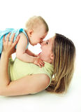 Motehr and baby playing Royalty Free Stock Images