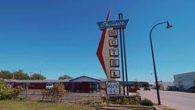 Motel à moda de Skyliner em Route 66 ilustração stock