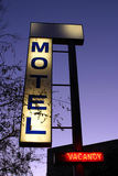 Motel. Sign on dark sky background, vacancy Royalty Free Stock Photography