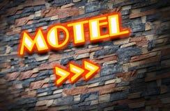Motel. Cottage Inn  neon light Sign Royalty Free Stock Photos