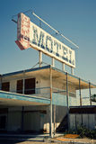 Motel abandonné, mer de Salton, CA images stock
