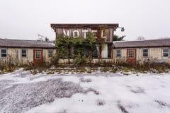 Motel abbandonato - Ruggles, Ohio Fotografia Stock Libera da Diritti