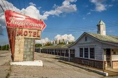Motel abbandonato sull'itinerario storico 66 nel Missouri Fotografie Stock