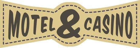 Motel casino. The coat of arms graphic design casino motel article Stock Photography