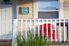 Motel in de buitenbanken stock foto's