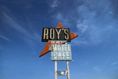 Motel de Roys e café, Amboy foto de stock royalty free