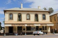 Motel del hotel del criterio en el pueblo viejo de Quorn, Australia occidental de Ghan Imagen de archivo