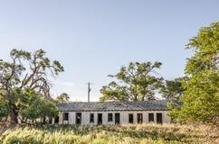 Motel della riduzione di attività su Route 66 Fotografia Stock Libera da Diritti