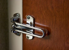 Motel door lock Stock Photography