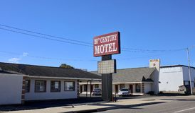 Motel du 20ème siècle, Memphis occidental, Arkansas Photographie stock libre de droits