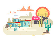 Motel flat design Stock Images