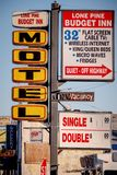 Motel in the historic village of Lone Pine - LONE PINE CA, USA - MARCH 29, 2019. Motel in the historic village of Lone Pine - LONE PINE CA, UNITED STATES OF stock images
