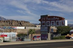 Motel on the Historical Route 66 Royalty Free Stock Photos