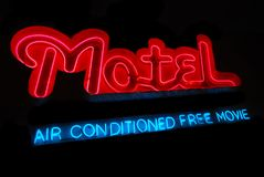 Motel Neon Sign stock photography