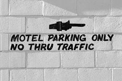 Motel parking only Royalty Free Stock Image
