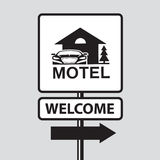 Motel road sign Stock Photography