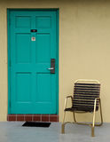 Motel room door Stock Photo