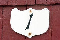 Motel Room Number royalty free stock photo