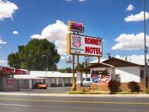 Motel, Route 66, Arizona-Touristenattraktion, USA stockfotos